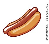 hotdog illustration vector | Shutterstock .eps vector #1117266719