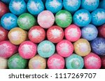 colorful bolster for sale.... | Shutterstock . vector #1117269707