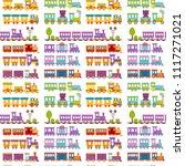 game gift kids train seamless... | Shutterstock .eps vector #1117271021