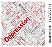 vector conceptual depression or ... | Shutterstock .eps vector #1117272941