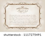 vintage frame with beautiful...   Shutterstock .eps vector #1117275491