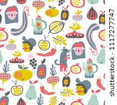 cute seamless pattern with... | Shutterstock .eps vector #1117277747