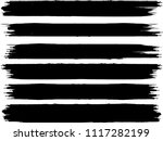 grunge paint stripe . vector... | Shutterstock .eps vector #1117282199