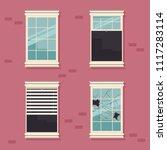 windows broken  open  closed... | Shutterstock .eps vector #1117283114