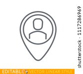 personal map marker icon....   Shutterstock .eps vector #1117286969