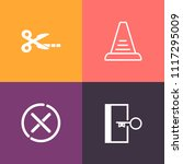 modern  simple vector icon set...   Shutterstock .eps vector #1117295009