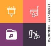 modern  simple vector icon set... | Shutterstock .eps vector #1117300895