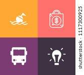 modern  simple vector icon set... | Shutterstock .eps vector #1117300925