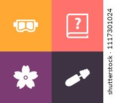 modern  simple vector icon set... | Shutterstock .eps vector #1117301024