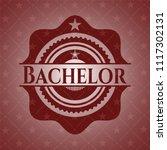 bachelor red emblem. vintage.   Shutterstock .eps vector #1117302131