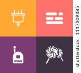 modern  simple vector icon set... | Shutterstock .eps vector #1117309385