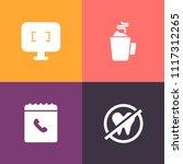 modern  simple vector icon set... | Shutterstock .eps vector #1117312265
