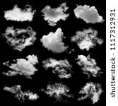 Collection White Black Cloud Isolated - Fine Art prints