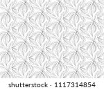 leaves pattern white background ... | Shutterstock . vector #1117314854