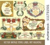 vector vintage items  label art ... | Shutterstock .eps vector #111731531