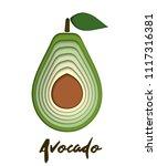 vector set of paper cut green... | Shutterstock .eps vector #1117316381