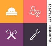 modern  simple vector icon set... | Shutterstock .eps vector #1117319501