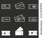 movie ticket icon   cinema... | Shutterstock .eps vector #1117319594