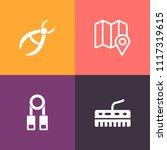 modern  simple vector icon set... | Shutterstock .eps vector #1117319615