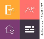 modern  simple vector icon set... | Shutterstock .eps vector #1117320749