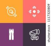 modern  simple vector icon set... | Shutterstock .eps vector #1117320809