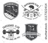 set of skateboard club badges.... | Shutterstock .eps vector #1117322414