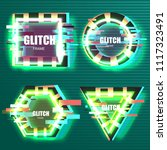 set of tv glitch effects in... | Shutterstock .eps vector #1117323491