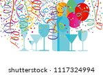 scene with drinks balloons and... | Shutterstock .eps vector #1117324994