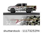 car decal design vector.... | Shutterstock .eps vector #1117325294