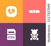 modern  simple vector icon set... | Shutterstock .eps vector #1117327049