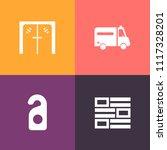 modern  simple vector icon set... | Shutterstock .eps vector #1117328201