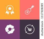 modern  simple vector icon set... | Shutterstock .eps vector #1117328285