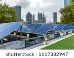solar and modern shanghai city... | Shutterstock . vector #1117332947