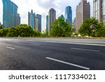 empty road with modern business ... | Shutterstock . vector #1117334021