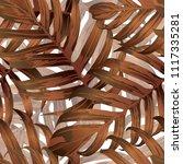 palm monstera seamless pattern. ...   Shutterstock .eps vector #1117335281