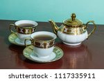 teapot and cups | Shutterstock . vector #1117335911