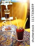 iced coffee served with ice | Shutterstock . vector #1117336859