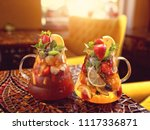 fruit cocktails with mineral... | Shutterstock . vector #1117336871
