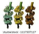 set of three large bundles of... | Shutterstock .eps vector #1117337117