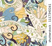 tracery seamless pattern.... | Shutterstock .eps vector #1117340261
