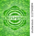 offspring green mosaic emblem   Shutterstock .eps vector #1117340894