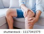 man suffering from knee pain...   Shutterstock . vector #1117341575