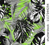 tropic seamless pattern with... | Shutterstock .eps vector #1117344254