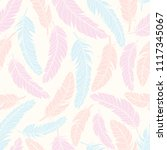 feathers seamless pattern.... | Shutterstock .eps vector #1117345067