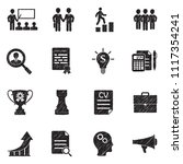career and business icons.... | Shutterstock .eps vector #1117354241