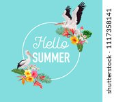 hello summer design with... | Shutterstock .eps vector #1117358141