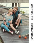 boyfriend with tattoos and... | Shutterstock . vector #1117363235