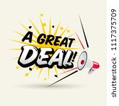 "megaphone with ""a great deal""... 