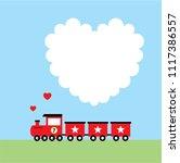 cute train cartoon valentine... | Shutterstock .eps vector #1117386557