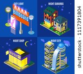 night city with urban... | Shutterstock .eps vector #1117391804